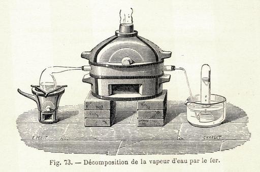 Décomposition de la vapeur d'eau