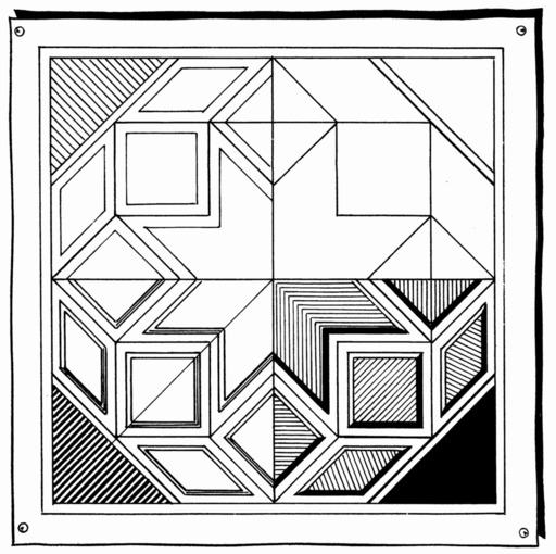 Décor géométrique dans un carré