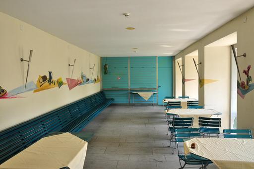 Décoration intérieure d'un restaurant