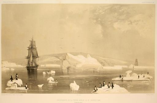 Découverte de la Terre Adélie le 19 janvier 1840
