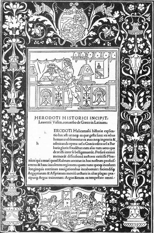 Dédicace de l'Histoire d'Hérodote en 1404