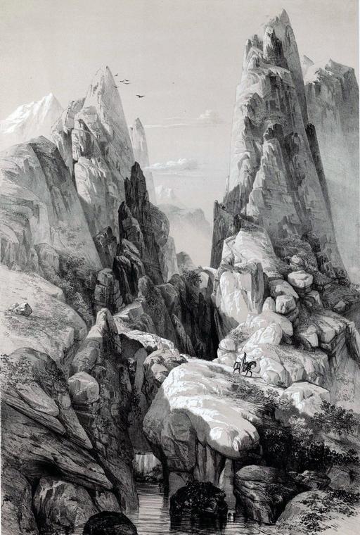 Défilé de Pir a zan en Iran en 1840