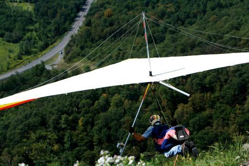 Deltaplane au décollage