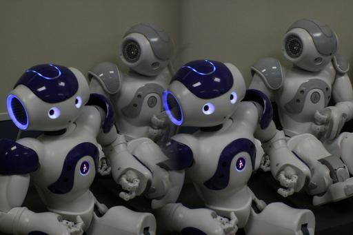 Démonstration de robots Nao en 2011