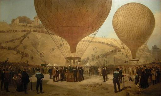 Départ de Gambetta en ballon en 1870