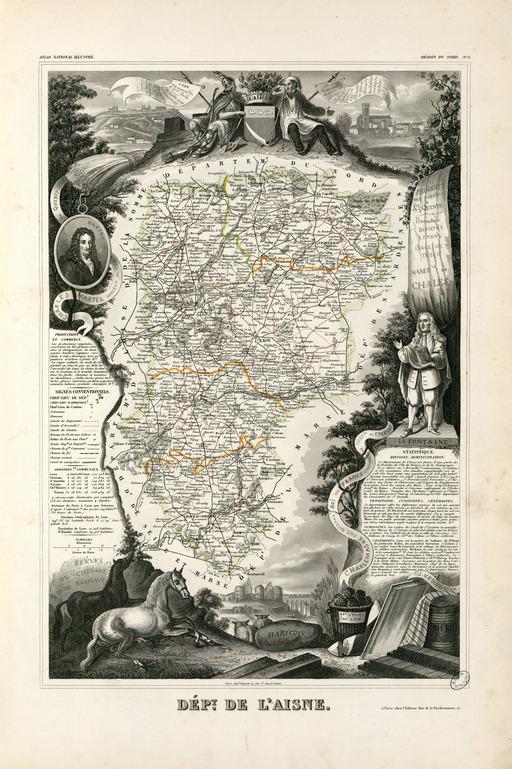 Département de l'Aisne en 1854
