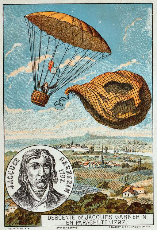 Descente de Jacques Garnerin en parachute en 1797
