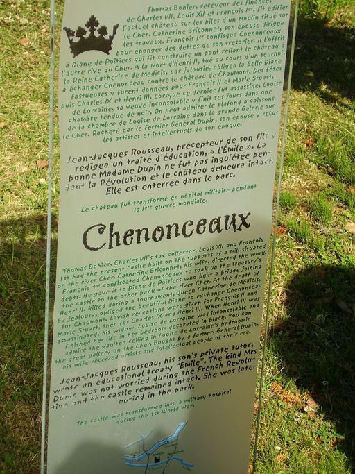 Descriptif bilingue du château de Chenonceau