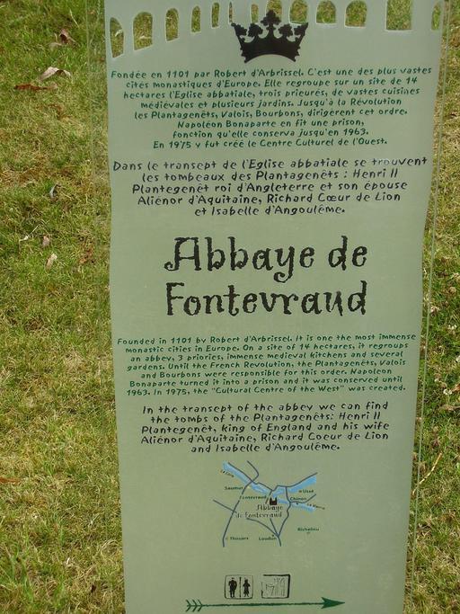Descriptif de l'Abbaye de Fontevraud