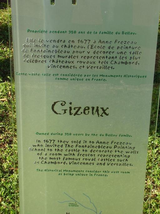 Descriptif du château de Gizeux