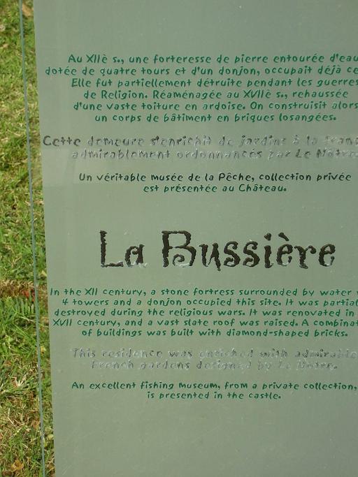 Descriptif du château de La Bussière
