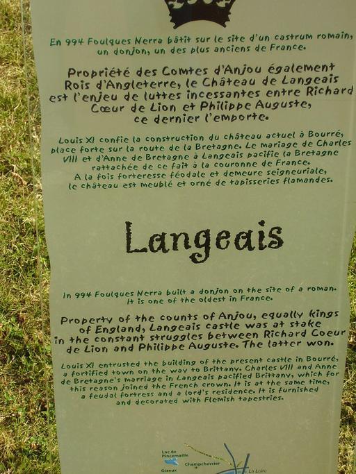 Descriptif du château de Langeais