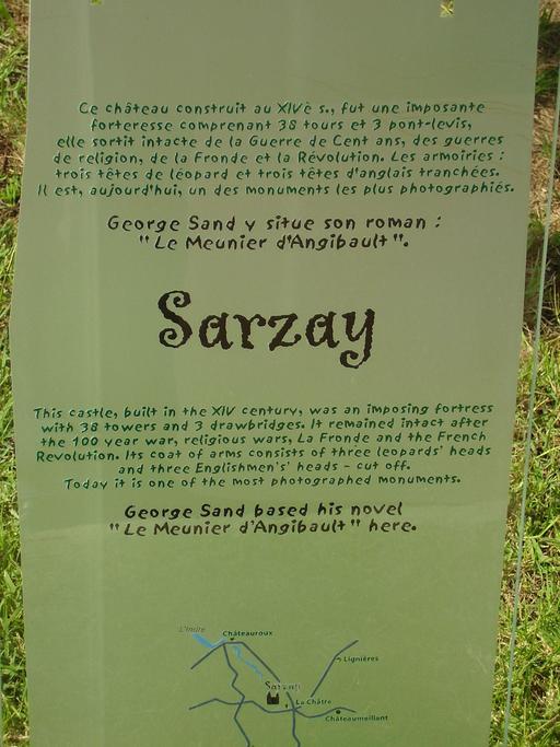 Descriptif du château de Sarzay