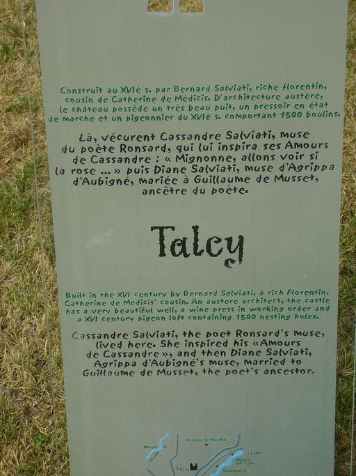Descriptif du château de Talcy