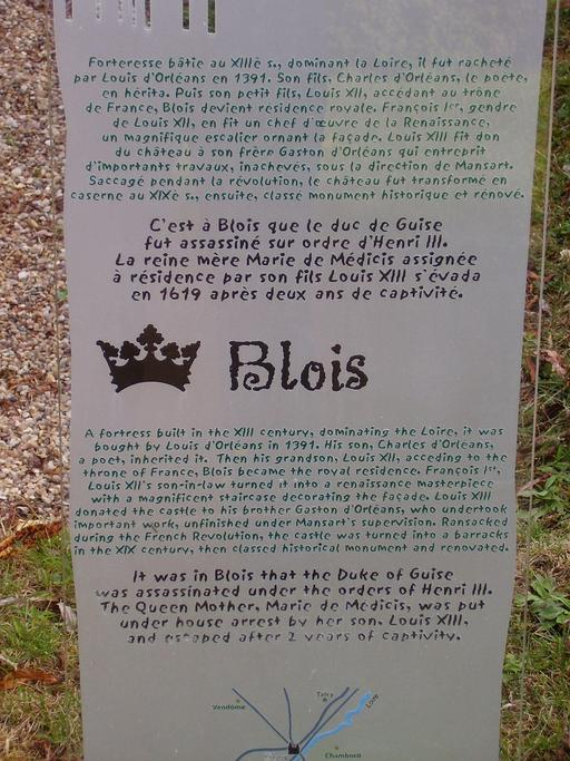 Descriptif du mini-château de Blois