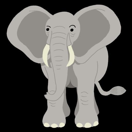 Dessin d'éléphant de face