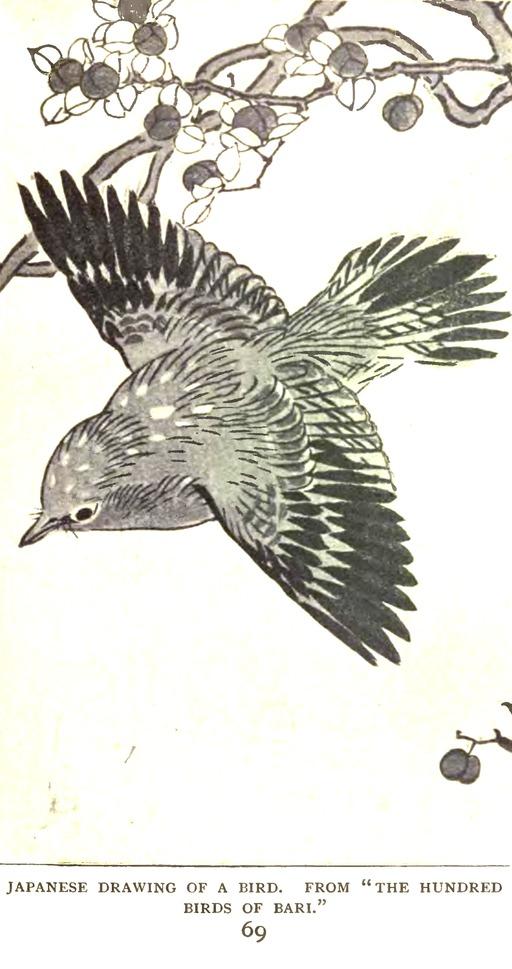 Dessin d'oiseau à la mode japonaise