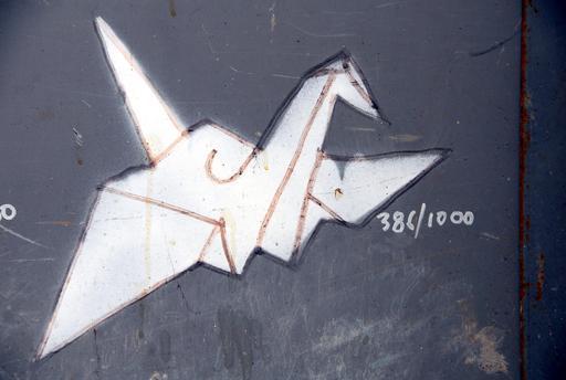 Dessin d'oiseau en origami