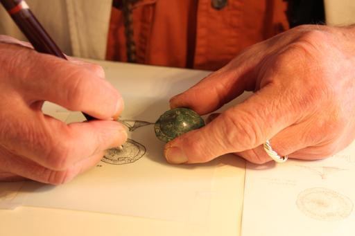 Dessin d'un bijou de l'âge du bronze
