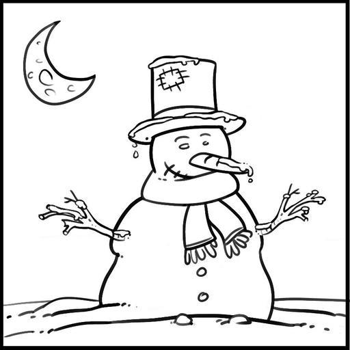 Dessin de bonhomme de neige