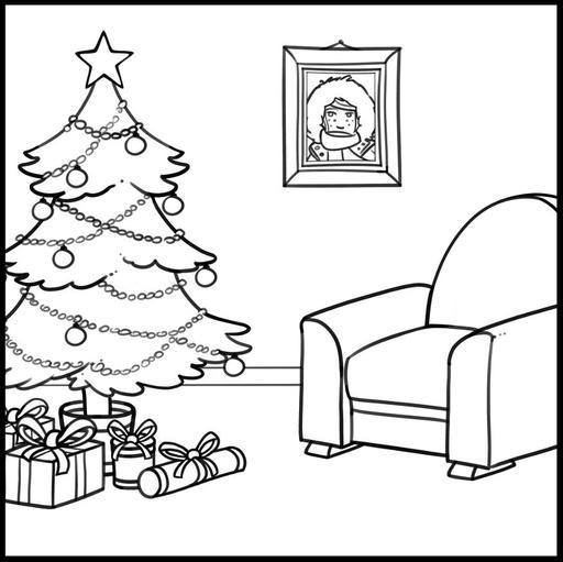 Dessin de Chloé à Noël