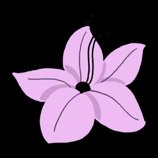 Dessin de fleur tropicale mauve