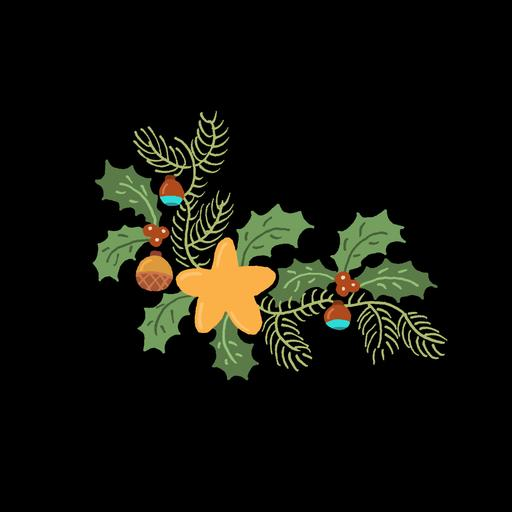 Dessin de guirlande à Noël
