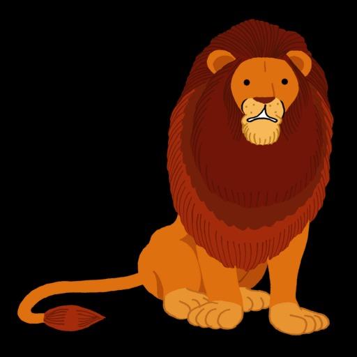 Dessin de lion assis