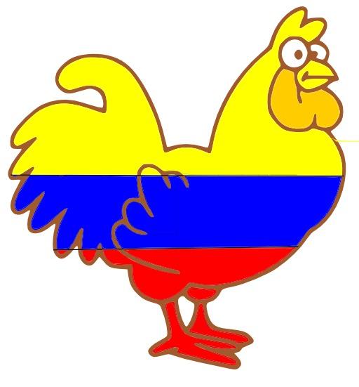 Dessin de poule tricolore