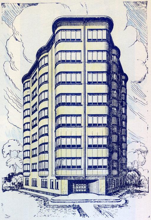 dessin de projet d'immeuble