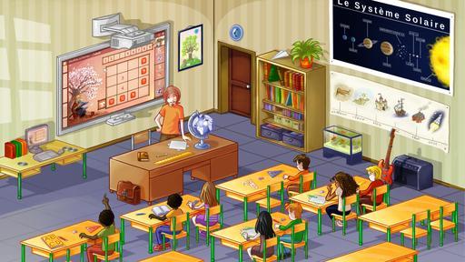 Dessin de salle de classe