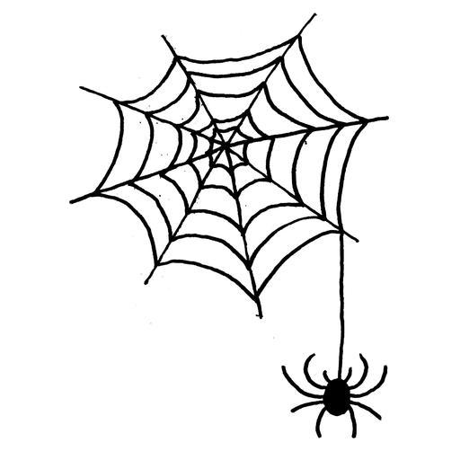 Dessin de toile d'araignée