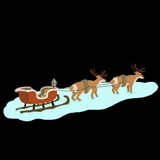 Dessin du chariot du Père Noël