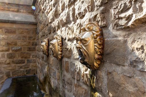 Détail d'une fontaine à Charleville-Mézières