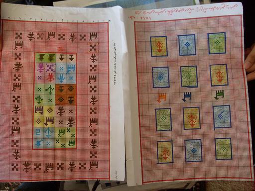 Deux cartons de tapis iraniens coloriés