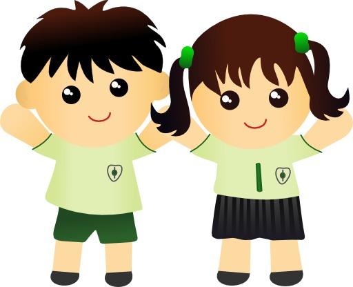 Deux écoliers en uniforme