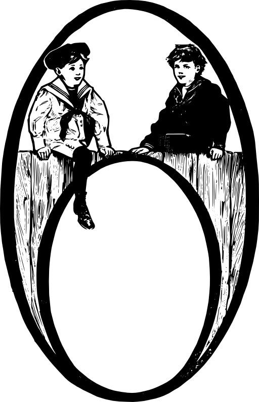 Deux enfants assis