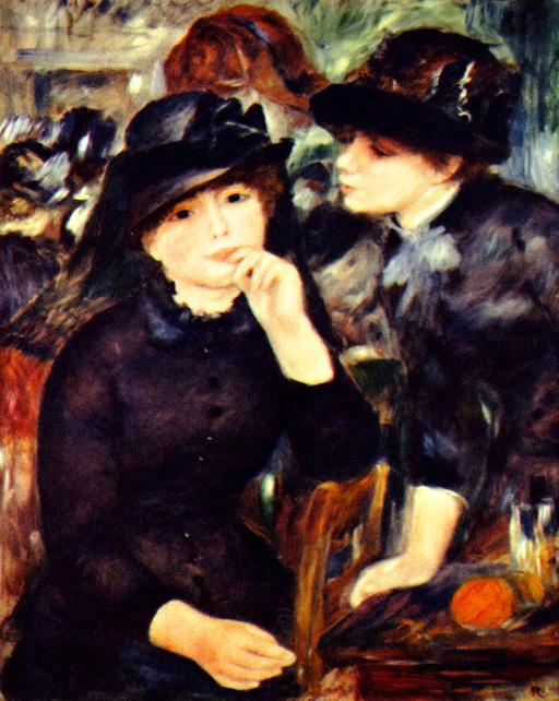 Deux filles en noir en 1880