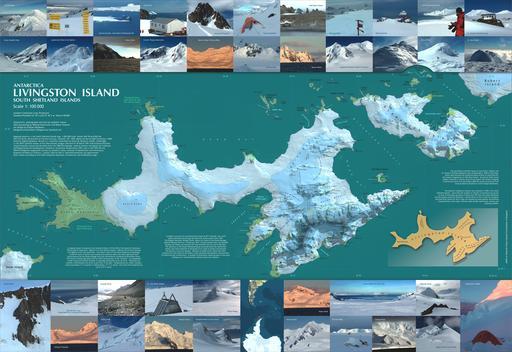 Deux îles de l'Antarctique