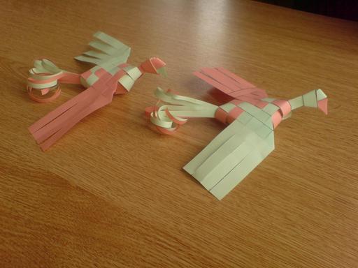 Deux oiseaux de paradis en origami 8