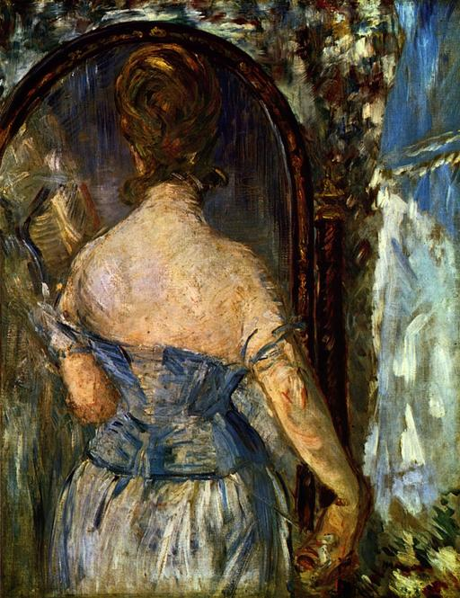 Devant le miroir de Manet