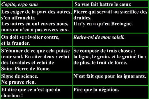 Dictionnaire des idées reçues, D