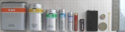 Différents types de piles électriques