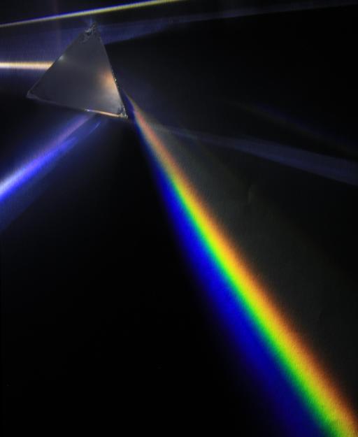 Dispersion de la lumière à travers un prisme