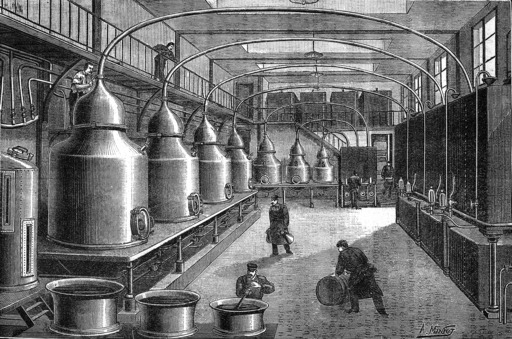 Distillation de l'absinthe en 1904