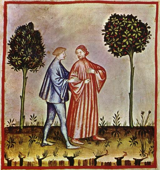 Divertissements médiévaux : promenade et discussion