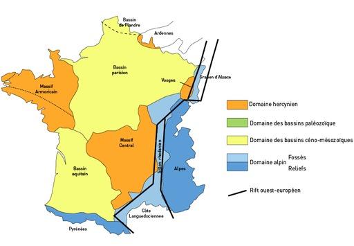 Domaines géologiques en France