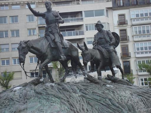 Don Quichotte à San Sebastián (Espagne)