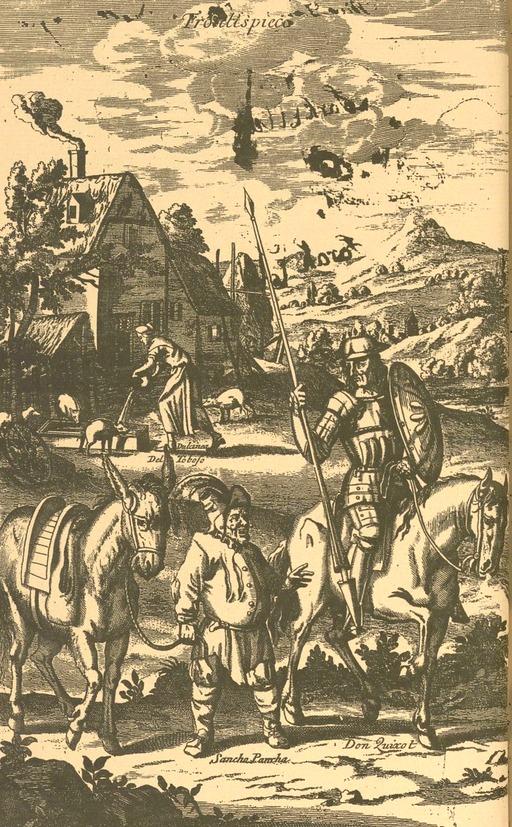 Don Quichotte et Sancho Panza en 1687