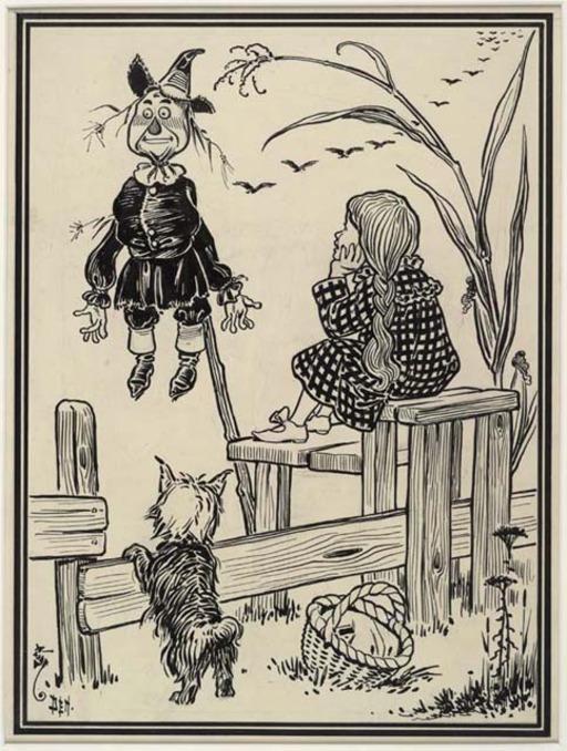 Dorothy et l'épouvantail